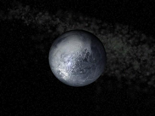 Artist impression of Pluto as seen on Spaceflight Insider