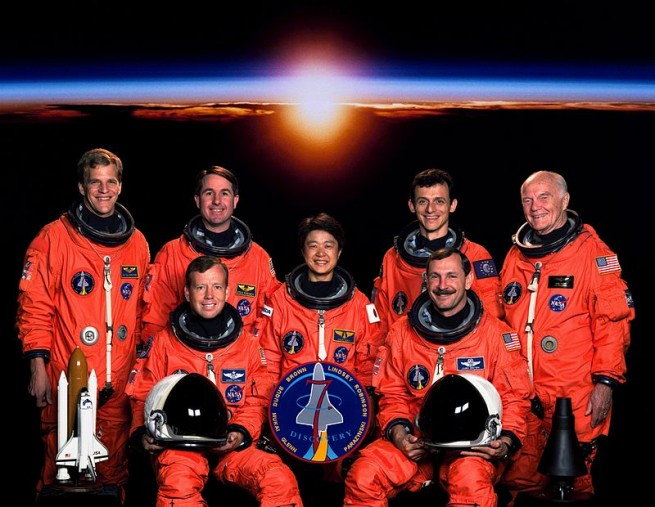 STS-95 crew as seen on Spaceflight Insider
