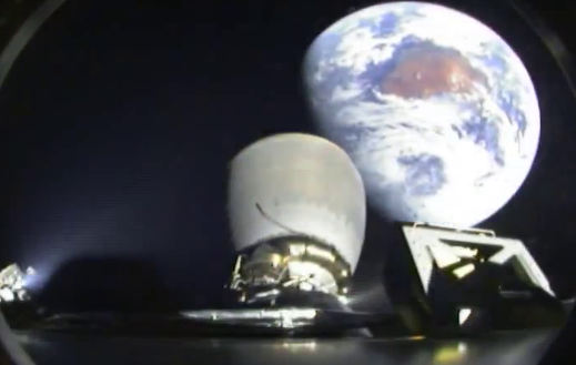 Second stage view of DSCOVR mission leaving Earth SpaceX photo posted on SpaceFlight Insider