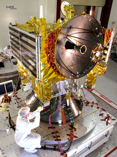 The Venus Express spacecraft during testing as seen on Spaceflight Insider