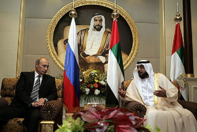 Putin and Sheikh Khalifa as seen on Spaceflight Insider