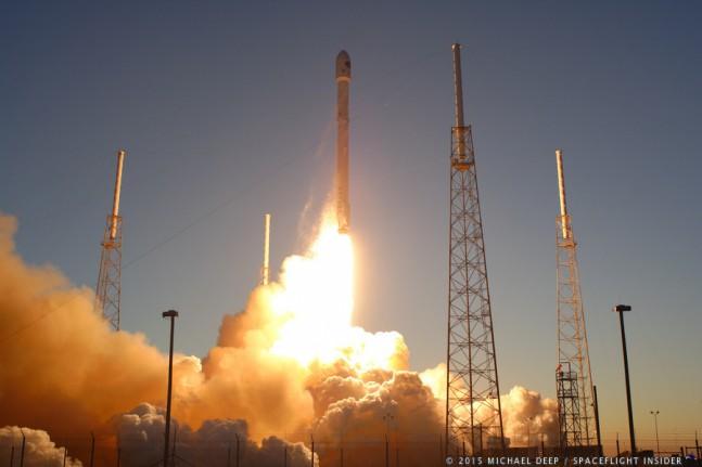 DSCOVR liftoff as seen on Spaceflight Insider
