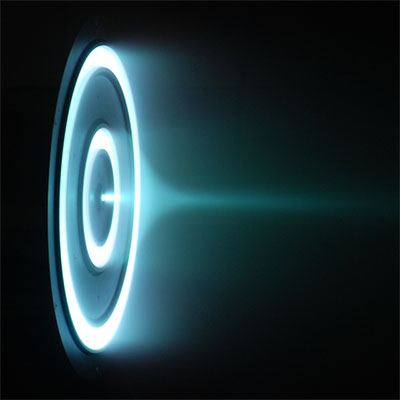 Hall ion thruster as seen on Spaceflight Insider