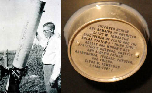 Clyde Tombaugh's ashes on New Horizons as seen on Spaceflight Insider