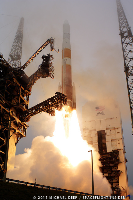 ULA Delta IV launch with GPS IIF-9 as seen on Spaceflight Insider