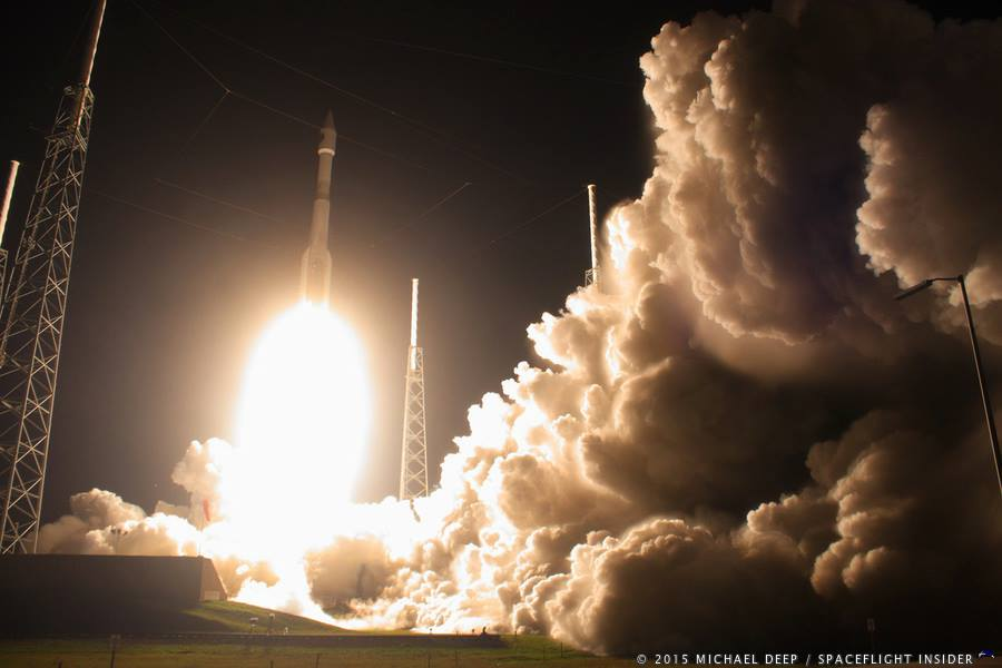 An Atlas V 421 with NASA's Magnetospheric Multiscale Mission launches from Cape Canaveral Air Force Station Space Launch Complex 41 SLC-41 photo credit Mike Deep SpaceFlight Insider
