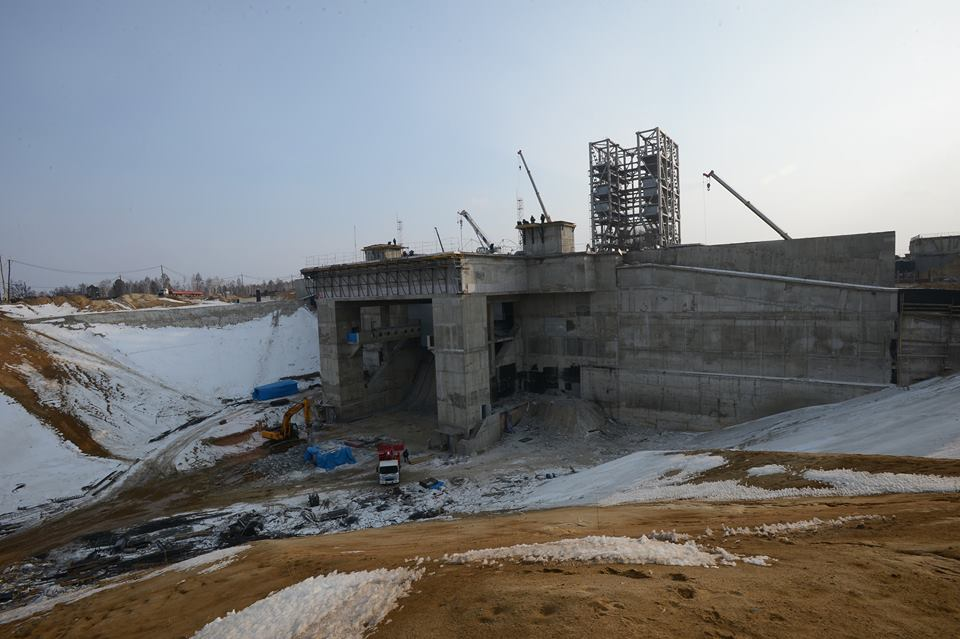 Vostochny Cosmodrome construction site on Mar. 16, 2015