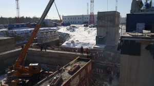 Vostochny cosmodrome construction site.