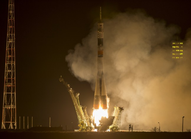 Expedition 43 Soyuz launch as seen on Spaceflight Insider