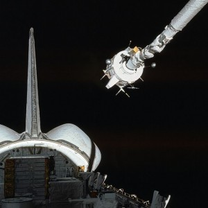 One of the tasks that the crew had to carry out - was the test of the Remote Manipulator System (RMS) - more commonly known as the Canadarm. Photo Credit: STS-3 / NASA