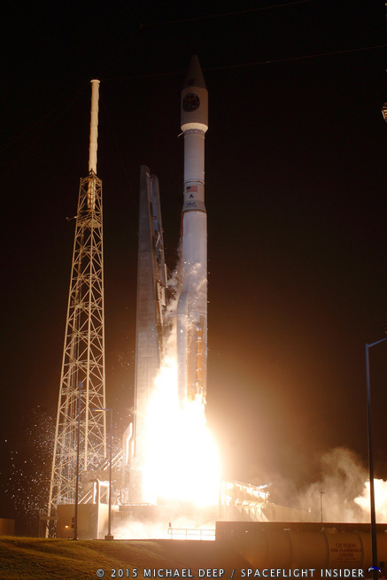 Atlas V MMS launch as seen on Spaceflight Insider