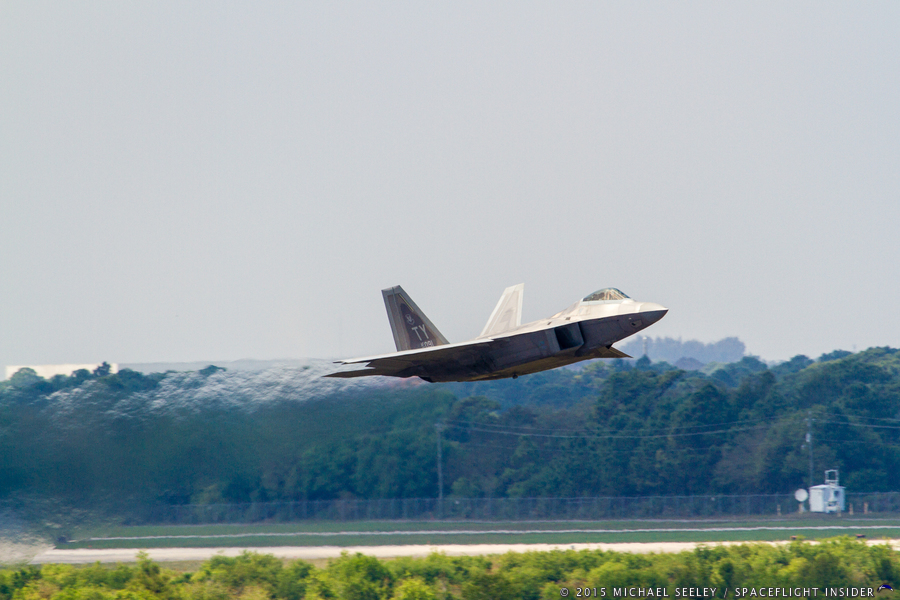 Melbourne Air and Space Show - Friday Dress Rehearsals of Lockheed Martin's F-22 Raptor Photo Credit Michael Seeley SpaceFlight Insider