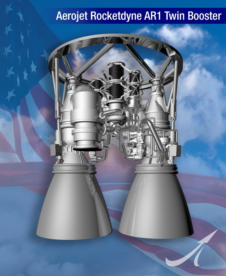 Aerojet Rocketdyne AR1 rocket engine image credit Aerojet Rocketdyne