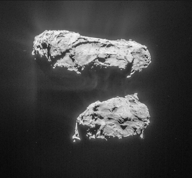 Comet 67P on March 14 as seen on Spaceflight Insider