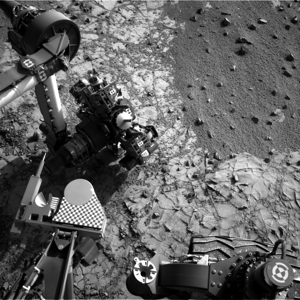 NASA's Curiosity rover resumed use of its robotic arm on March 11, 2015. Photo Credit: NASA/JPL-Caltech / MSSS