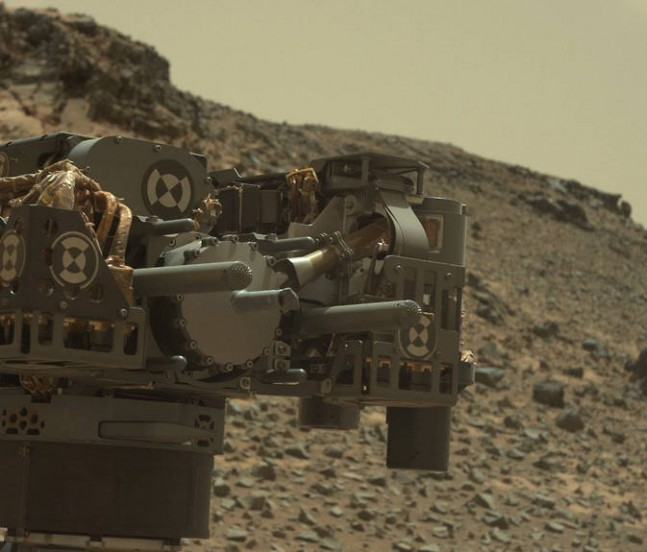 Curiosity's drill as seen on Spaceflight Insider