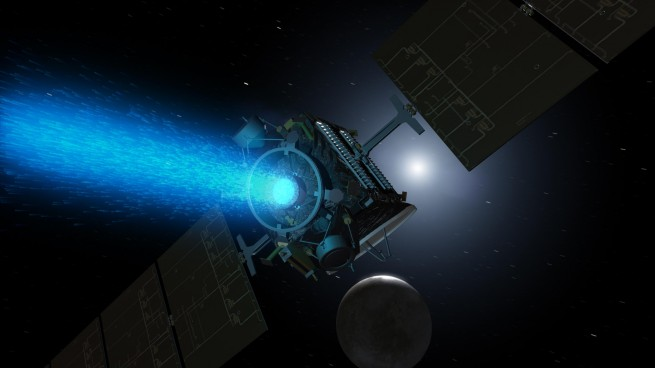 Dawn ion propulsion as seen on Spaceflight Insider