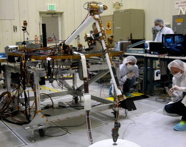 InSight Mars robotic arm testing photo credit NASA posted on SpaceFlight Insider