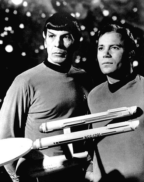 Mr. Spock and Captain Kirk in Star Trek as seen on Spaceflight Insider