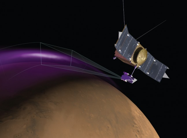 Martian aurorae seen by MAVEN and posted on Spaceflight Insider