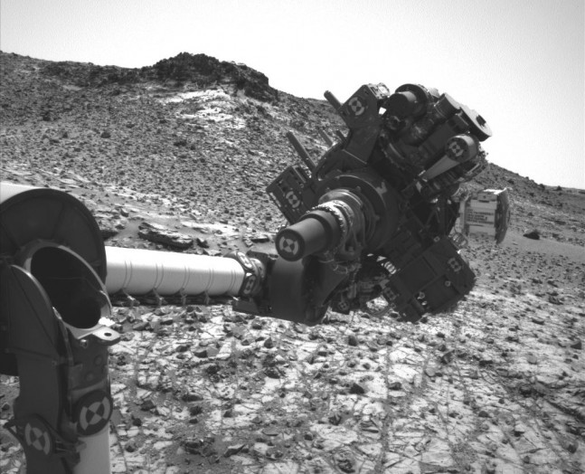 Curiosity's arm as seen on Spaceflight Insider