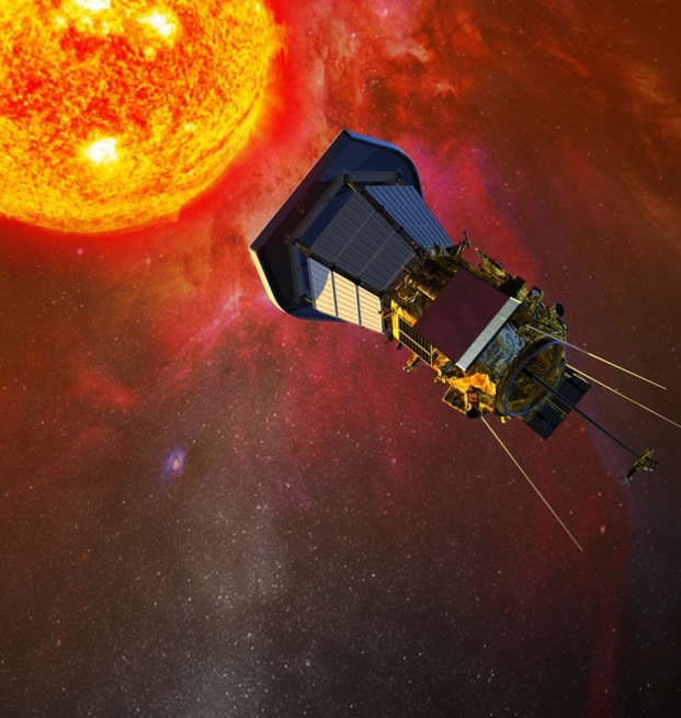 Solar Probe Plus spacecraft in orbit above Sun image credit NASA posted on SpaceFlight Insider