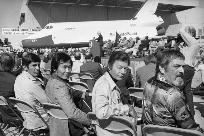 Star Trek crew at NASA as seen on Spaceflight Insider