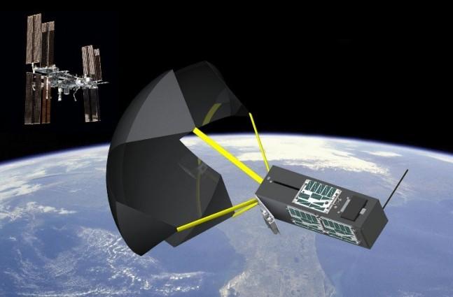 TechEdSat Exo-brake as seen on Spaceflight Insider