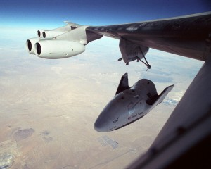 X-38-jettisoned from B 52 carrier aircraft NASA photo posted on SpaceFlight Insider