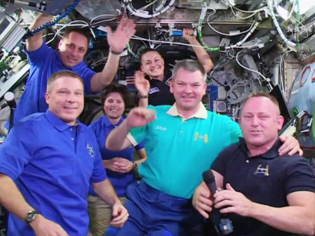 Command change on ISS as seen on Spaceflight Insider