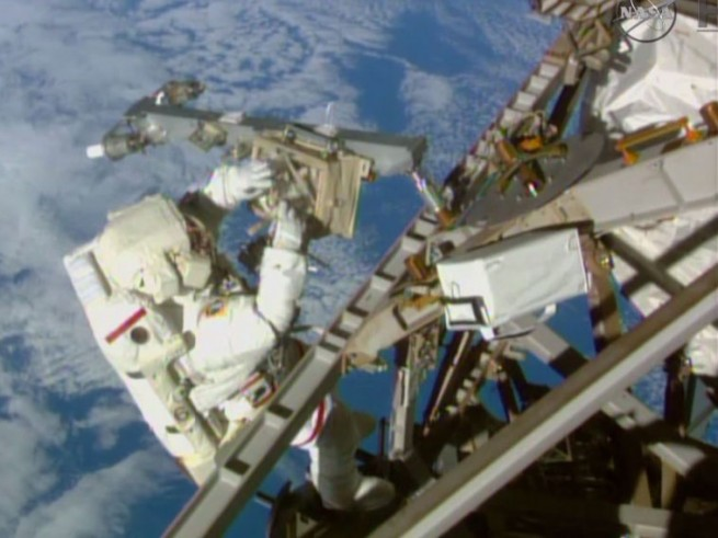 Terry Virts spacewalk as seen on Spaceflight Insider