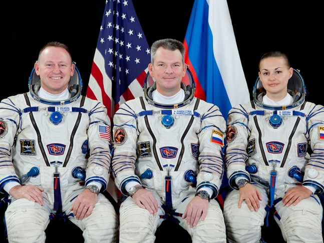 Expedition 42 crew as seen on Spaceflight Insider