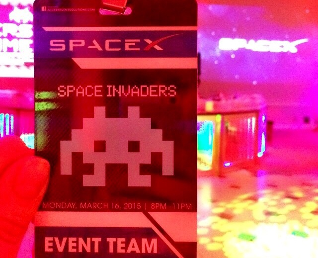 "SpaceX ""Space Invaders"" Event Team credential"