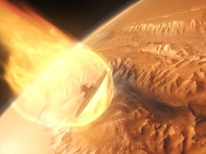 NASA crewed spacecraft enters Mars' atmosphere image credit K2 Films Giant Screen Films