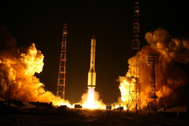A Russian Proton launch as seen on Spaceflight Insider