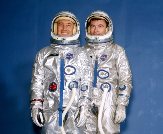 Gemini 3 crew as seen on Spaceflight Insider