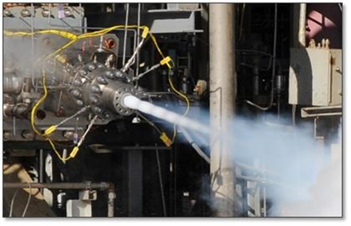 Aerojet Rocketdyne 3D printed injector undergoes hot-fire testing photo credit Aerojet Rocketdyne posted on SpaceFlight Insider