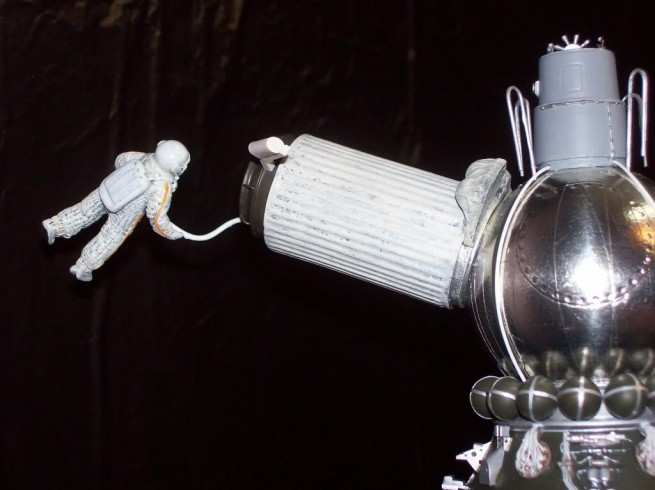 Voskhod-2 spacecraft model as seen on Spaceflight Insider