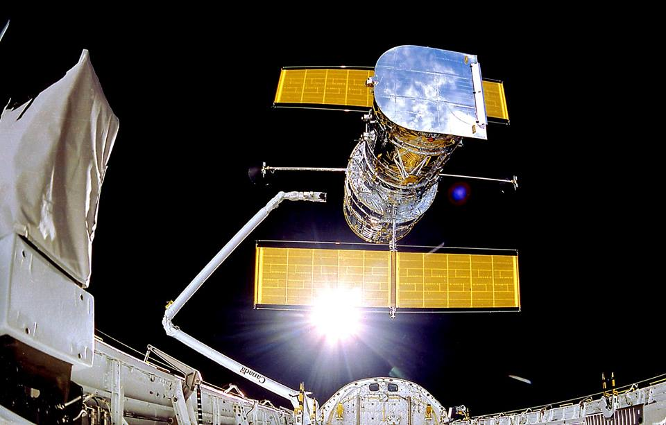 Hubble was deployed in April 1990 by the crew of the STS-31 space shuttle Discovery mission. Credit: NASA