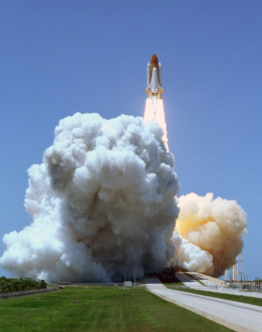 Space Shuttle launches from Kennedy Space Center Launch Complex 39 photo credit NASA posted on SpaceFligh Insider