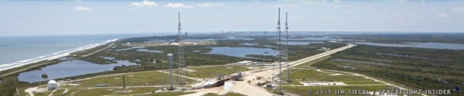 Kennedy Space Center grounds with Pad 39A