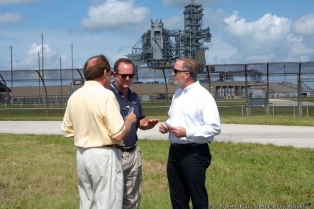 NASA's Mic Woltman discusses KSC Master Plan near LC-39A