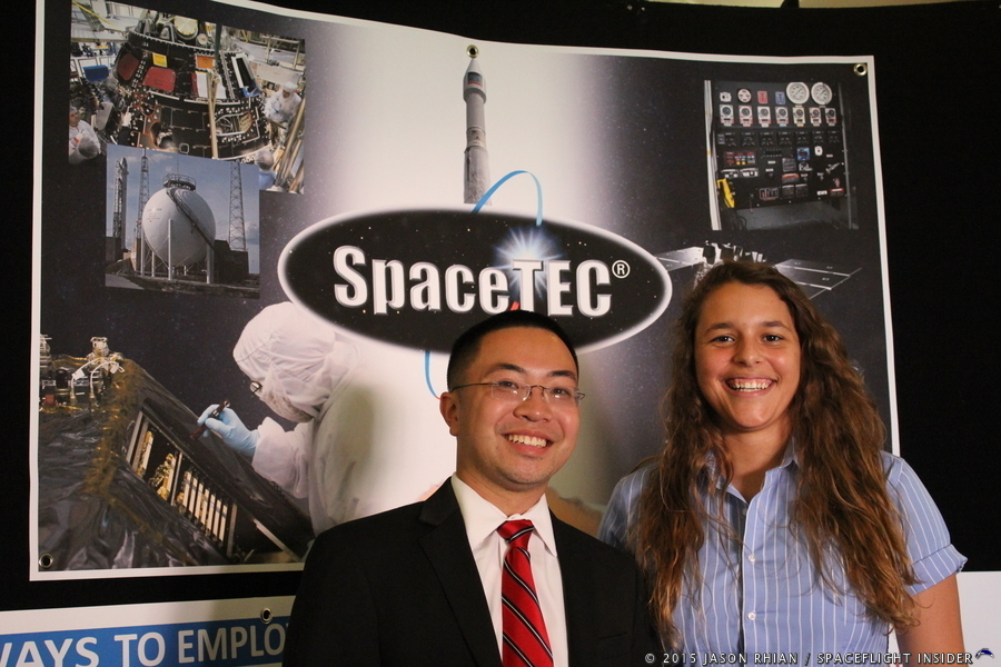 Missile Space and Range Pioneers Time Capsule 2 Mars Cassidy Chan Juliette Bido photo credit Jason Rhian SpaceFlight Insider