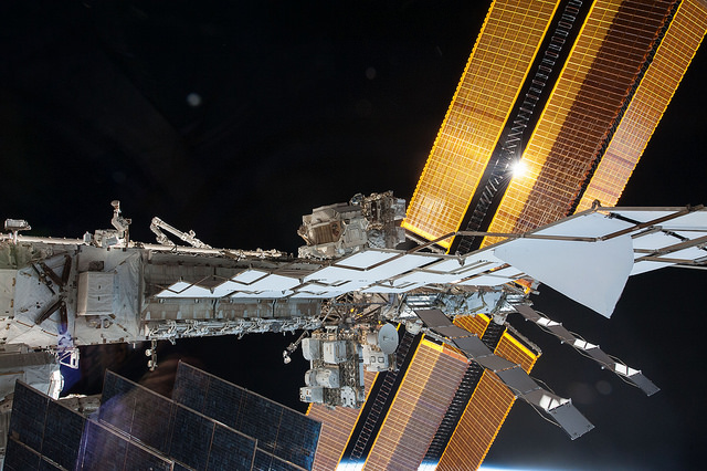 International Space Station ISS in orbit above Earth NASA photo posted on SpaceFlight Insider