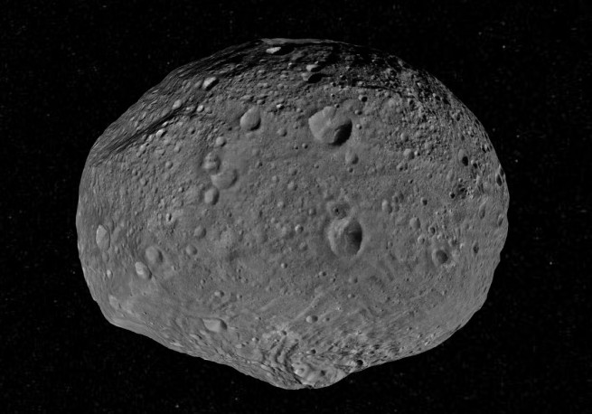 A global view of Vesta as imaged by NASA's Dawn spacecraft and viewed using Vesta Trek's 3D view.  Image Credit: NASA