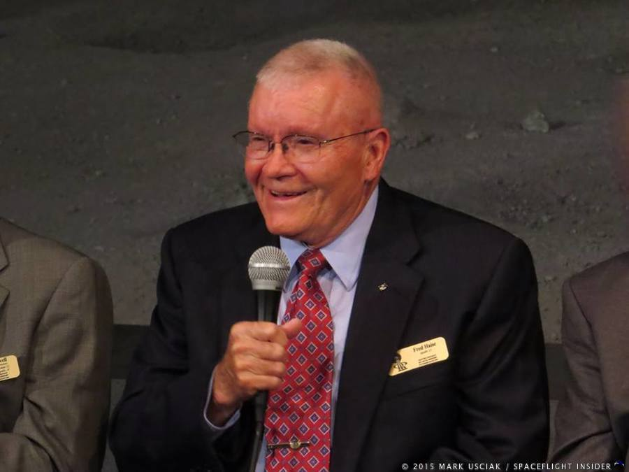 Apollo 13 Lunar Module Pilot Fred Haise 45th anniversary Kennedy Space Center photo credit Mark Usciak SpaceFlight Insider