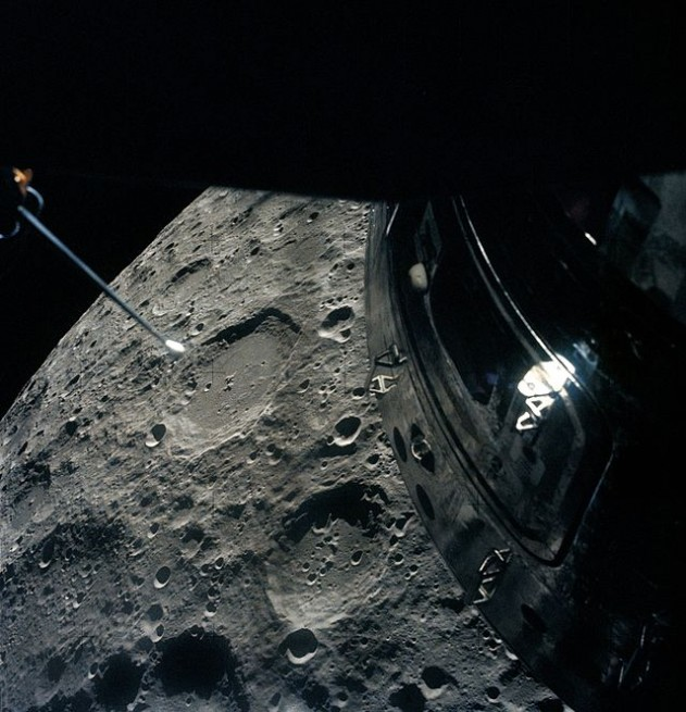 Apollo 13 completed a pass of the Moon before splashing down in the Pacific Ocean on April 17, 1970. Photo Credit: NASA