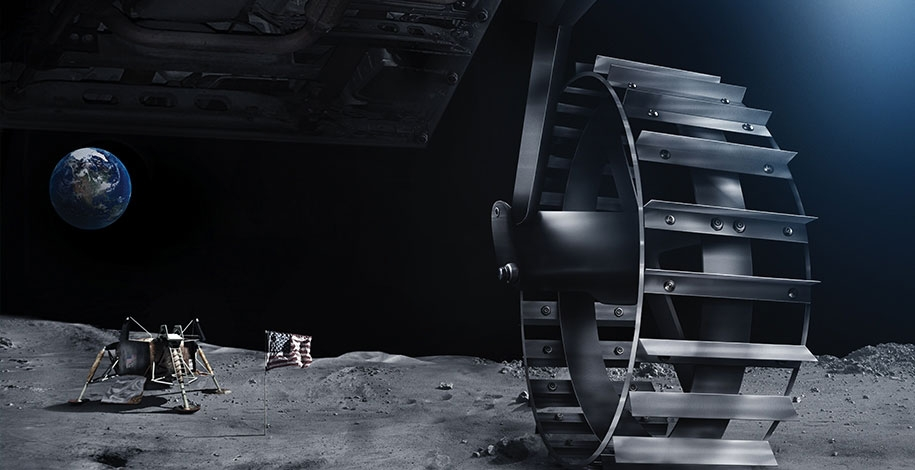 An artist's impression of a Google Lunar X-Prize team at an Apollo landing site. To win the $20 million prize, finalist teams have to launch by the end of 2017. Image Credit: GLXP