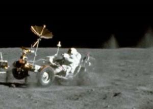 The lunar Grand Prix. Photo Credit: NASA