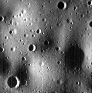 The smallest craters visible in the image are about the size of the 52-foot crater made by the impact of the MESSENGER spacecraft. Image Credit: NASA/Johns Hopkins University Applied Physics Laboratory/Carnegie Institution of Washington